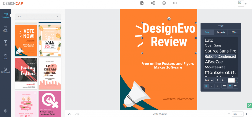 Designcap Review Design Professional Looking Posters And Flyers Online For Free Techuniverses