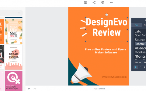 Free online Posters and Flyers Maker Software DesignCap Review