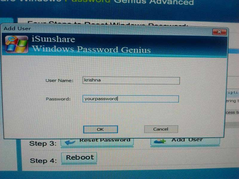 WinPassKey enter user details